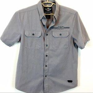 Harley-Davidson Shirts - Harley-Davidson Sz M Gray Herringbone Shirt